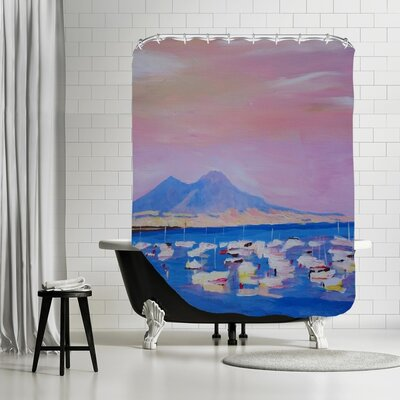 Markus Bleichner Bogner Boats in Gulf of Naples Italy with Vesuvius Shower Curtain