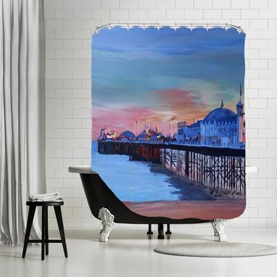 Markus Bleichner Wolk Brighton Pier Seaview Sunset Shower Curtain