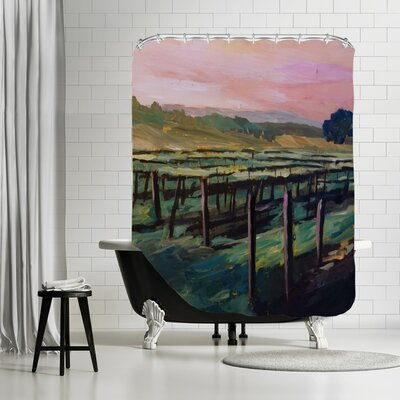 Markus Bleichner Roder Napa Valley Vineyard During Sunset Shower Curtain
