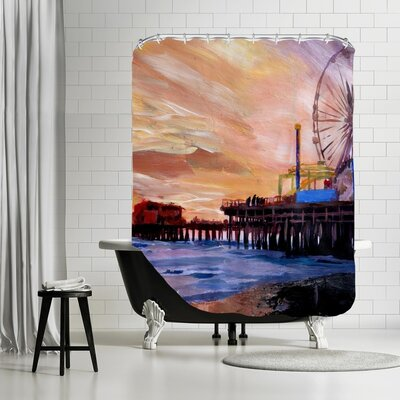 Markus Bleichner Livengood Santa Monica Pier 2 Shower Curtain