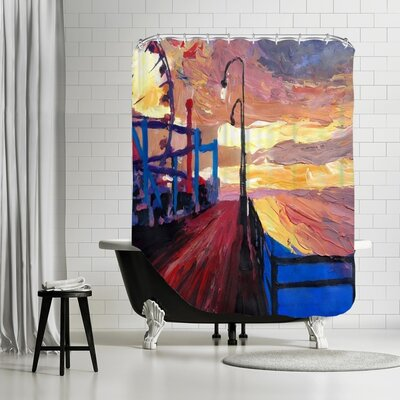 Markus Bleichner Rosato Santa Monica Pier Dusk 2 Shower Curtain