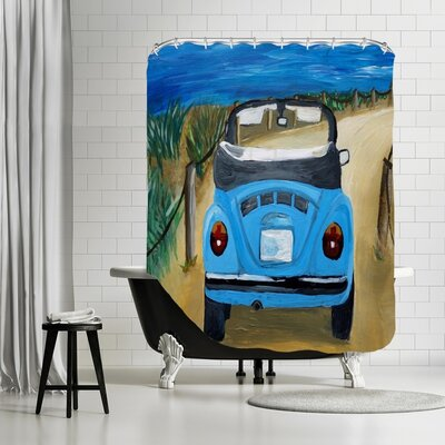 Markus Bleichner Tigner Bug at Beach Shower Curtain