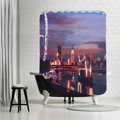 Markus Bleichner Kennett London Eye Night Shower Curtain