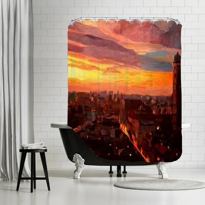 Markus Bleichner Seyler Munich Night 3 Shower Curtain
