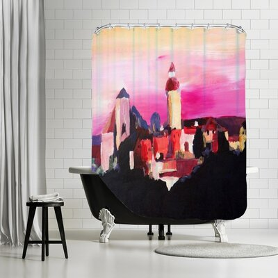 Markus Bleichner Yarnell Nuremberg with Castle at Dusk Shower Curtain