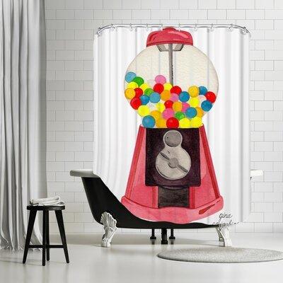 Gina Maher Attebery Gumball Machine Shower Curtain