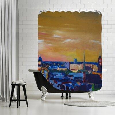 Markus Bleichner Arriola Gelb 2 Shower Curtain