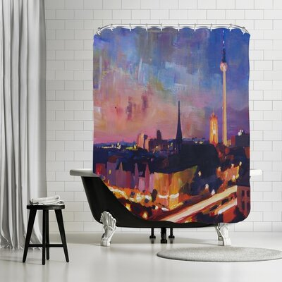 Markus Bleichner Croy Skyline Dusk 2 Shower Curtain