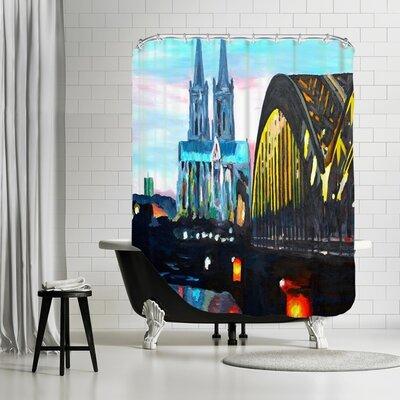 Markus Bleichner Rigney Cologne Kolner Dommit Hohenzollernbrucke Shower Curtain