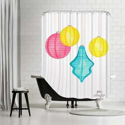 Gina Maher Rumsey Paper Lanterns Shower Curtain
