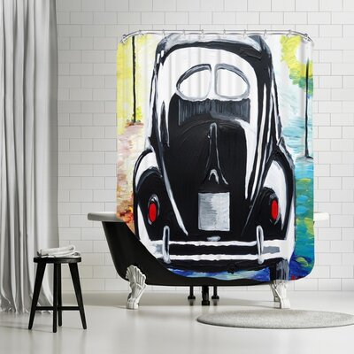 Markus Bleichner VW Bug Split Window Shower Curtain