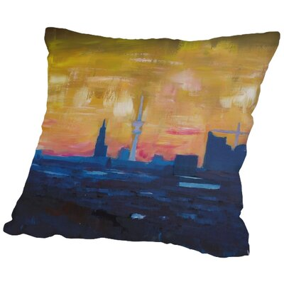 Markus Bleichner Fitzmaurice Hamburg Skyline Dusk 2 Throw Pillow Size: 16 H x 16 W x 2 D