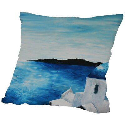 Markus Bleichner Posada Santorini I Throw Pillow Size: 18 H x 18 W x 2 D