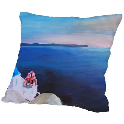Markus Bleichner Dishon Santorini V Oia Throw Pillow Size: 16 H x 16 W x 2 D