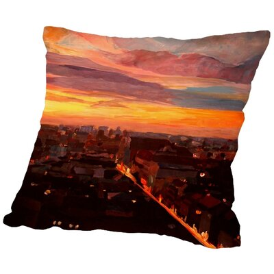 Markus Bleichner Newcombe Munich Night 3 Throw Pillow Size: 20 H x 20 W x 2 D