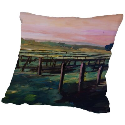 Markus Bleichner Earls Napa Valley Vineyard During Sunset Throw Pillow Size: 18 H x 18 W x 2 D