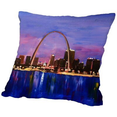 Markus Bleichner Mccranie St. Louis Arch Gateway at Sunset Throw Pillow Size: 16 H x 16 W x 2 D