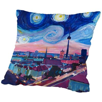 Markus Bleichner Rochon Starry Night in Throw Pillow Size: 16 H x 16 W x 2 D