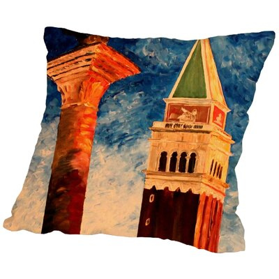 Markus Bleichner Abrego Venice Campanile Throw Pillow Size: 20 H x 20 W x 2 D