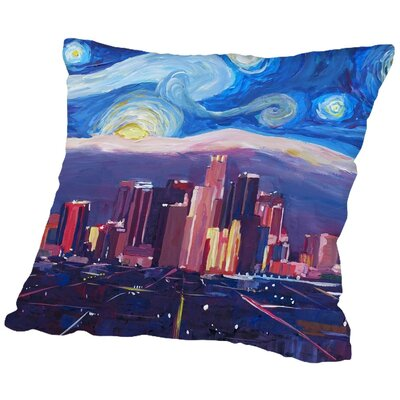 Markus Bleichner Keisler Starry Night in Los Angeles Throw Pillow Size: 20 H x 20 W x 2 D