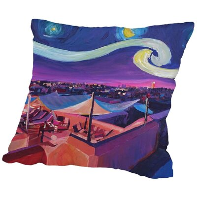 Markus Bleichner Koster Starry Night in Marrakech Throw Pillow Size: 18 H x 18 W x 2 D