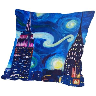 Markus Bleichner Mccloy Starry Night in New Throw Pillow Size: 18 H x 18 W x 2 D