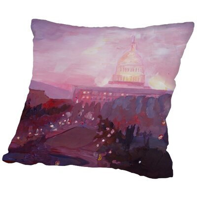 Markus Bleichner Nesbit Washington Capitol 3 Dusk Throw Pillow Size: 18