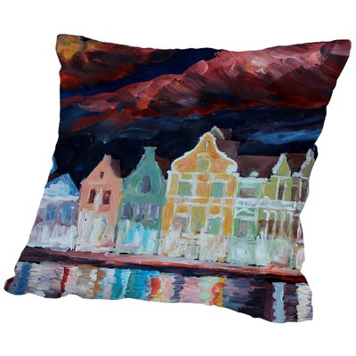 Markus Bleichner Kwon Curacao at Night Throw Pillow Size: 20 H x 20 W x 2 D