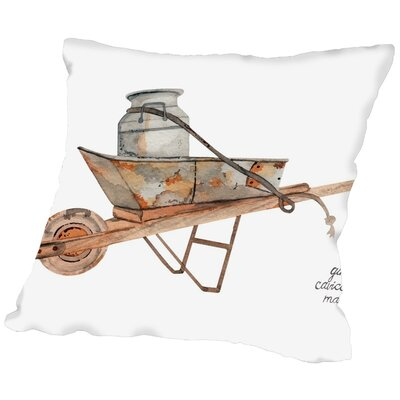 Gina Maher Bilski Wheel Barrow Throw Pillow Size: 20 H x 20 W x 2 D