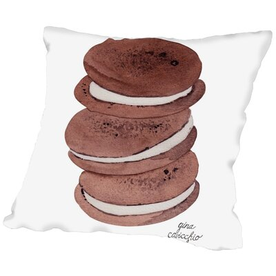Gina Maher Vallejos Whoopie Pies Throw Pillow Size: 20 H x 20 W x 2 D