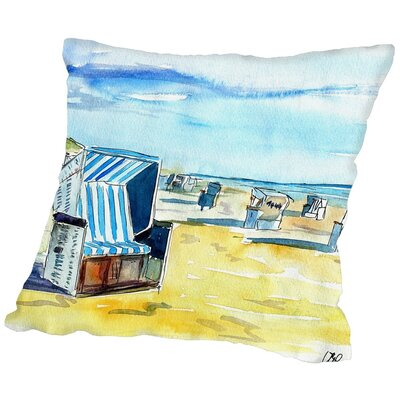 Markus Bleichner Bozek Sylt German Island Beach Throw Pillow Size: 20 H x 20 W x 2 D