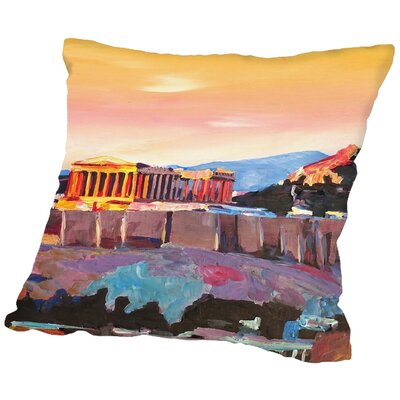 Markus Bleichner Blanding Athens Greece Akropolis at Sunset Neu Throw Pillow