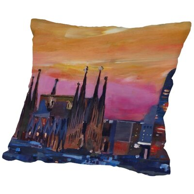 Markus Bleichner Lebow Barcelona 3 Throw Pillow Size: 16 H x 16 W x 2 D