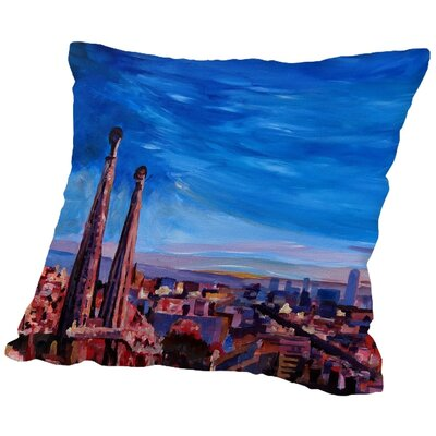 Markus Bleichner Martinsen Barcelona Sagrada 3 Throw Pillow Size: 18