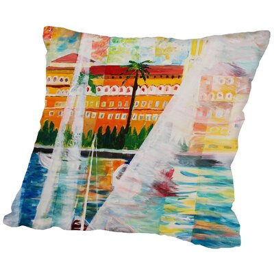 Markus Bleichner Risher Grand Hotel in Gardone Riviera in Sunlight Throw Pillow Size: 16 H x 16 W x 2 D