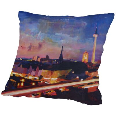 Markus Bleichner Kilburn Skyline Dusk 2 Throw Pillow Size: 16 H x 16 W x 2 D