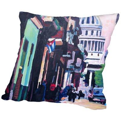 Markus Bleichner Rusch Havana Cuba Street Scene Throw Pillow Size: 18 H x 18 W x 2 D