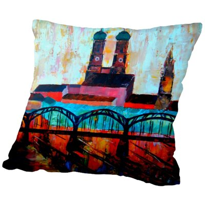 Markus Bleichner Odaniel Munchen Central Station Throw Pillow Size: 16