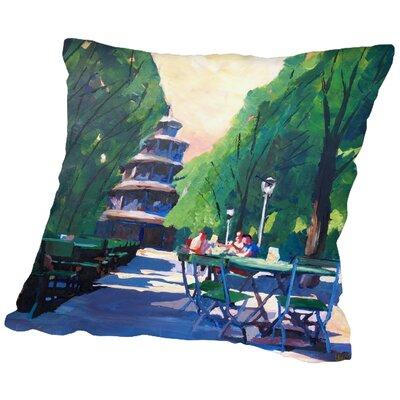 Markus Bleichner Markus Bleichner Channel Munchen Chinesischer Turm Mit Wegweiser Throw Pillow Size: 18 H x 18 W x 2 D