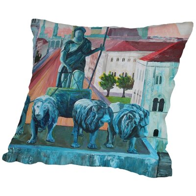Markus Bleichner Bohn Munchen Siegestor Throw Pillow Size: 16