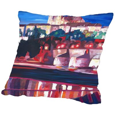 Markus Bleichner Pellegrino Prague Hradschin with Charles Bridge Throw Pillow Size: 18 H x 18 W x 2 D