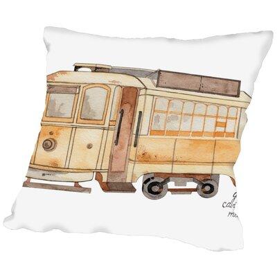 Gina Maher Thurber Street Car Throw Pillow Size: 16 H x 16 W x 2 D