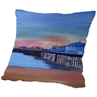 Markus Bleichner Salzman Brighton Pier Seaview Sunset Throw Pillow Size: 18 H x 18 W x 2 D