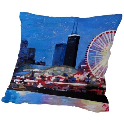 Markus Bleichner Goines Wheel Throw Pillow Size: 16 H x 16 W x 2 D