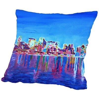 Markus Bleichner Rodarte Skyline Neon Shimmering Throw Pillow Size: 16 H x 16 W x 2 D