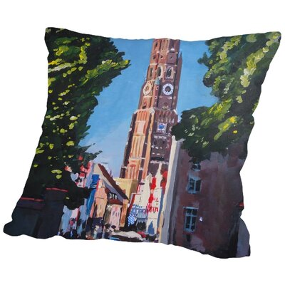 Markus Bleichner Hewes Landshut Munchner tor 1 Throw Pillow Size: 18 H x 18 W x 2 D