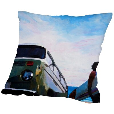 Markus Bleichner Bonfiglio The Green Surf Bus Throw Pillow Size: 20 H x 20 W x 2 D