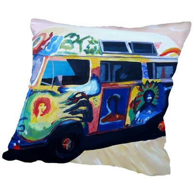 Markus Bleichner Genthner The Here Comes the Sun Surf Bus Or Throw Pillow Size: 16 H x 16 W x 2 D