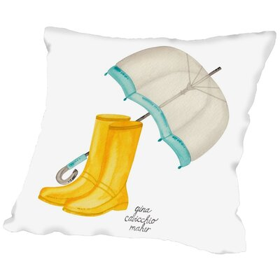 Gina Maher Fenske Rain Boots Throw Pillow Size: 16 H x 16 W x 2 D