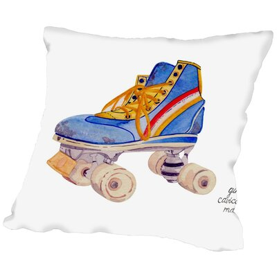 Gina Maher Deakins Roller Skate Throw Pillow Size: 18 H x 18 W x 2 D